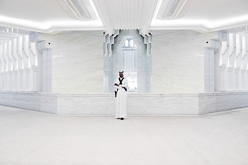 Guarding the marble